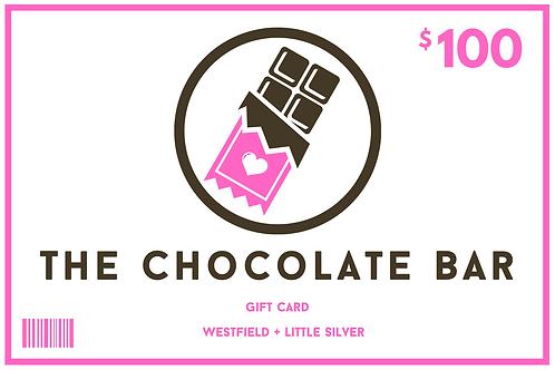 $100 Chocolate Bar Gift Card