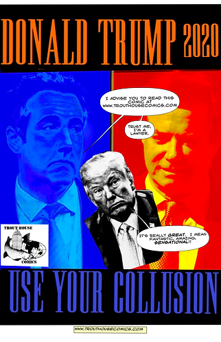 """Collusion 11"""" x 17"""" Trout House Comics promo poster (limited edition of 100)"""