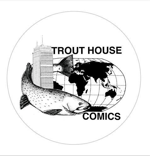 """3"""" Vinyl Trout House Comics Sticker"""
