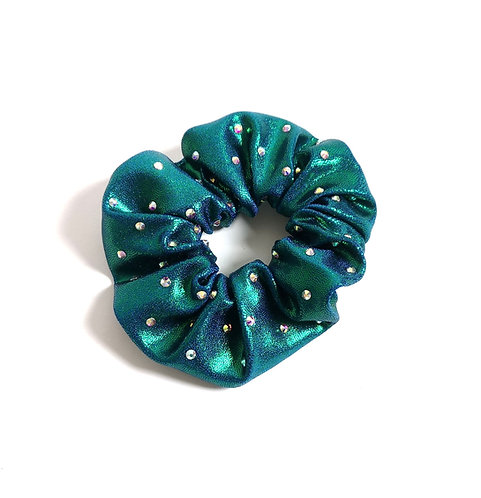Scrunchie green/blue holographic