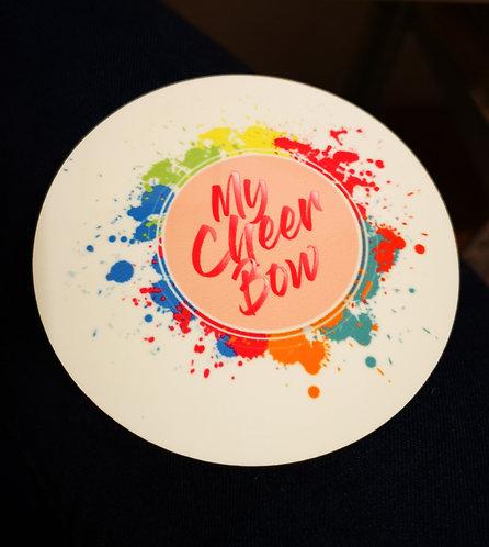 Kork Untersetzer My-Cheer-Bow Logo