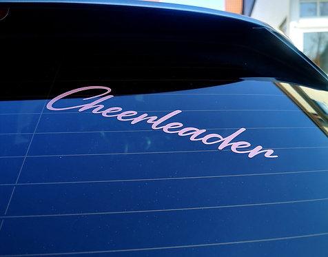 """Cheerleader"" Autoaufkleber"