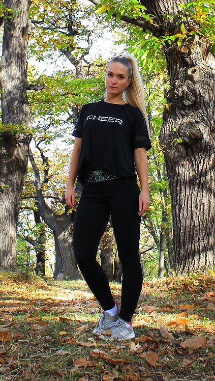 Sportleggings mit Strass (schwarz)