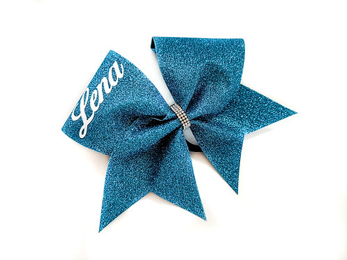 Glitterbow with individual lettering