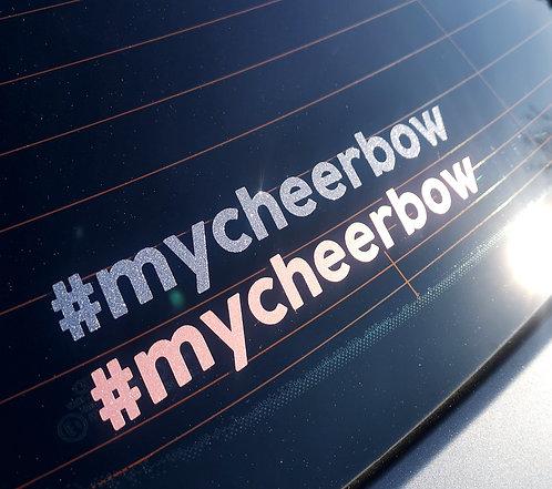Aufkleber #mycheerbow (2 verschiedene Größen)