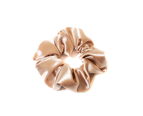 light gold Satin Scrunchie