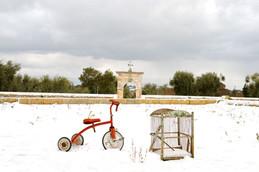 Masseria Faraone | snow fall in the Apulian countryside