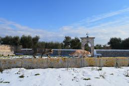 Masseria Faraone | century old Olive trees, Trulli and fields of Snow slowly melting