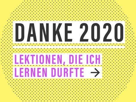 Danke 2020 — Meine #lessonslearned