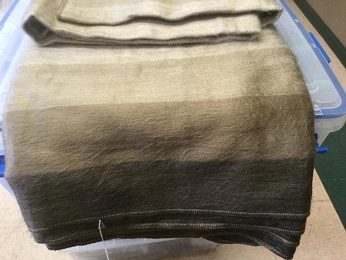 Alpaca Striped Blanket