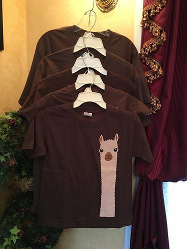 T - Shirt Alpaca Watching