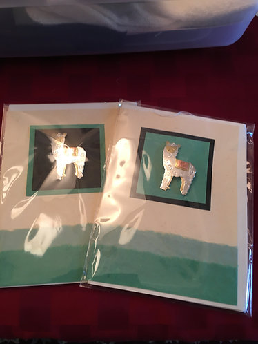 Card with Alpaca Pin