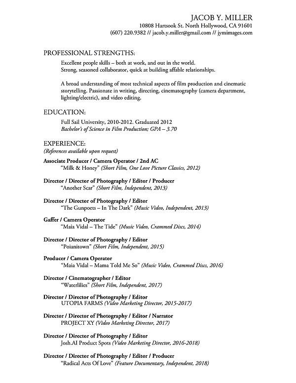 Resume (2019)