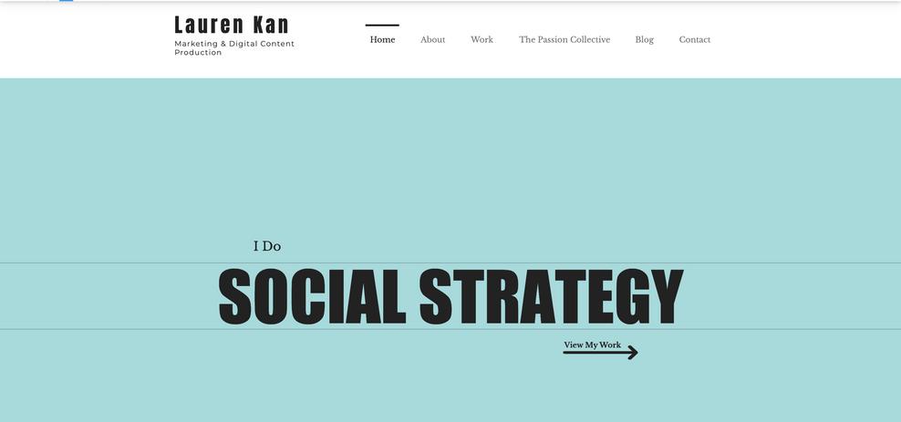 Lauren Kan Marketing & Digital Content Production