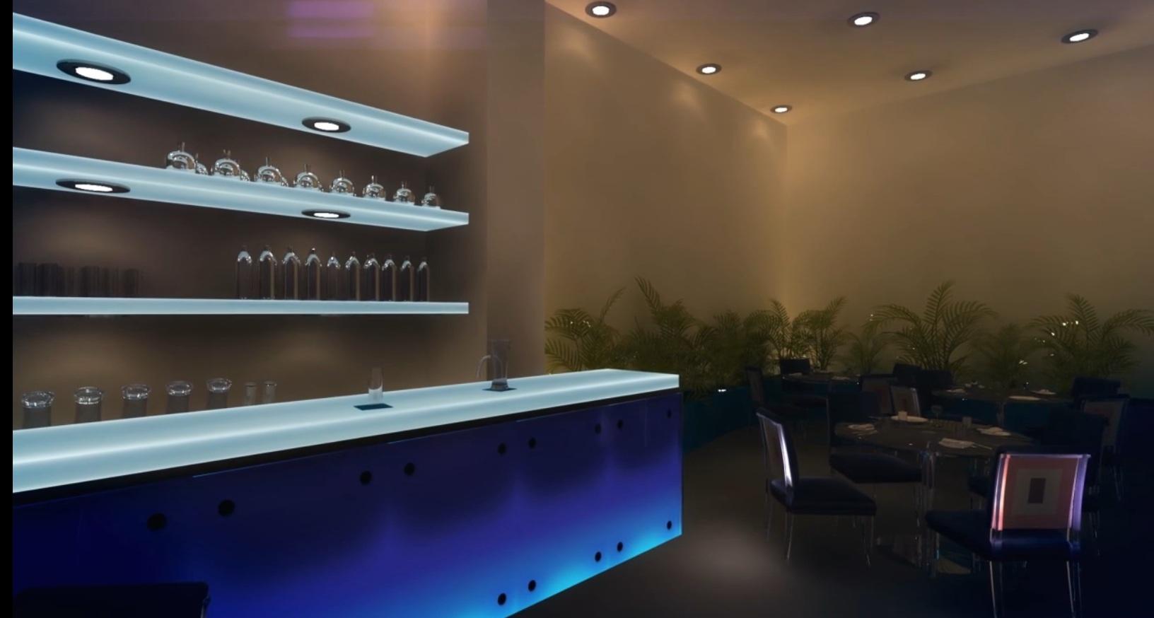 Projeção- Água Bar