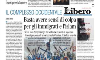 Recensione dell'ultimo libro italiano di Alexandre del Valle sul Quotidiano Libero: « Il complesso o