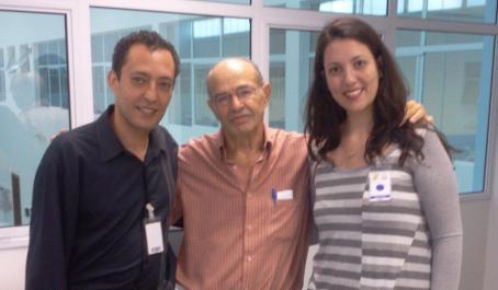 Maestro Douglas Gomes, Gilberto Colombo (então presidente da Usina Colombo) e Maestrina Flávia Bombonato