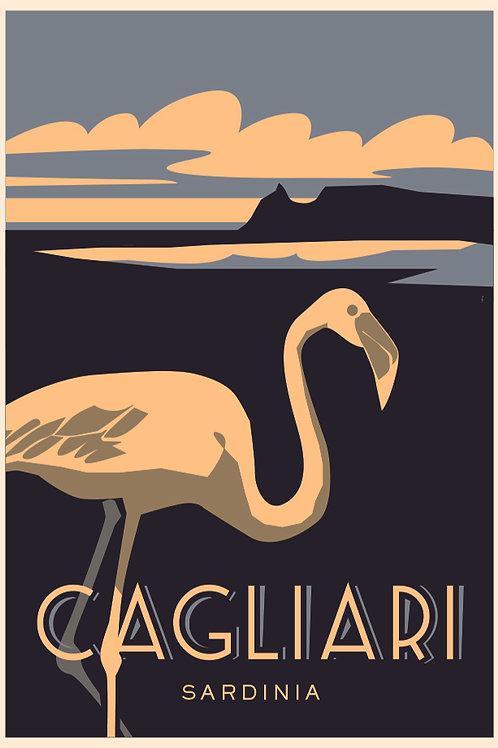 Poster Cagliari Fenicottero. Poster 2020 di Stefano Asili
