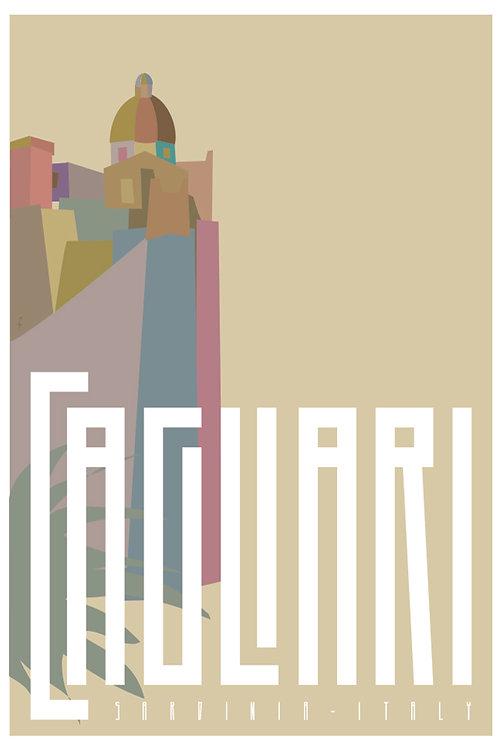 Poster Cagliari Rupe Castello. Poster 2020 di Stefano Asili