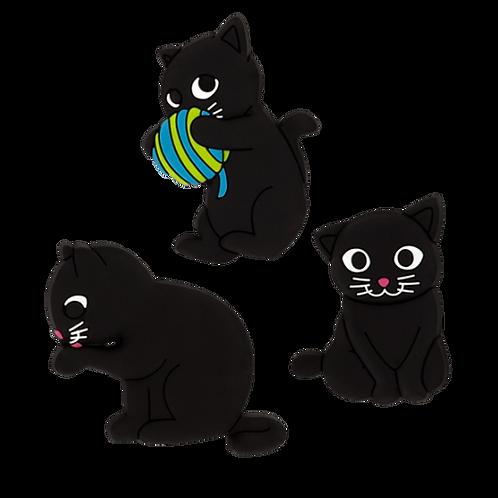 Set di 3 magneti - Happy Chat noir