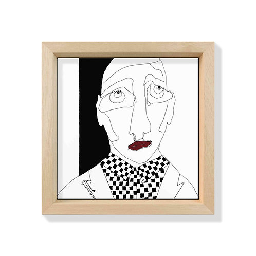 Piastrella Quadrata Antonio Marras con Frame Loving XII Natural