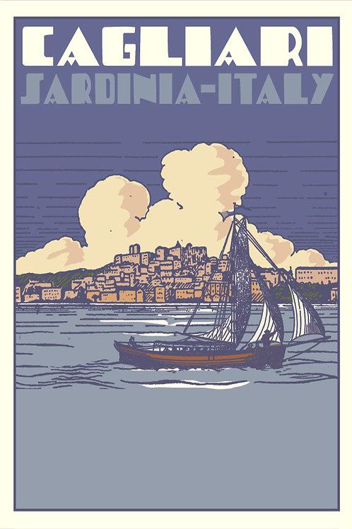 Poster Cagliari Souvenir. Poster 2020 di Stefano Asili