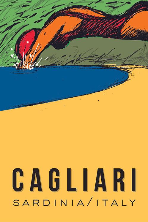 Poster Cagliari Tuffo. Poster 2020 di Stefano Asili