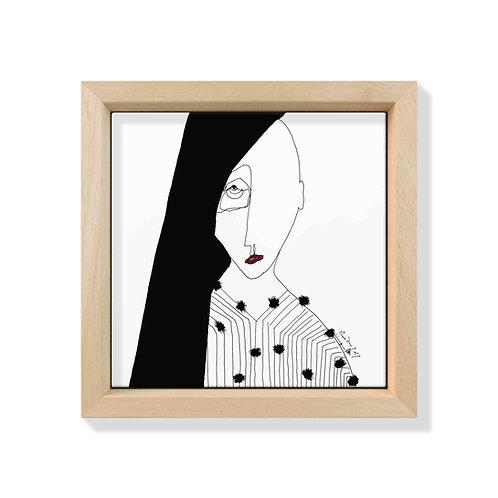 Piastrella Quadrata Antonio Marras con Frame Loving IX Natural