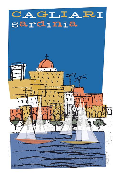 Poster Cagliari Anni '50. Poster 2020 di Stefano Asili
