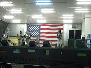 Performing for the troops in Kosovo
