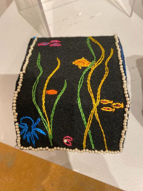 Embroidered Box: La Sirena