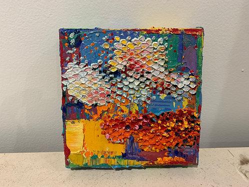 Summer Clouds: David Schaefer Painting