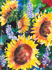 Sunflowers at Play