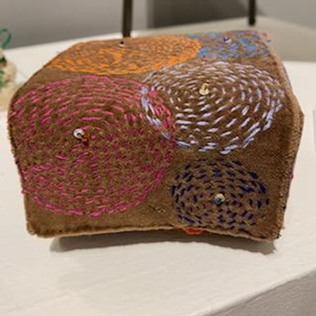 Embroidered Box: Fireworks