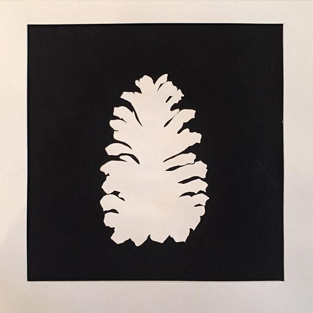 #silouette #painting #pinecone #gouache #art #gouachepainting