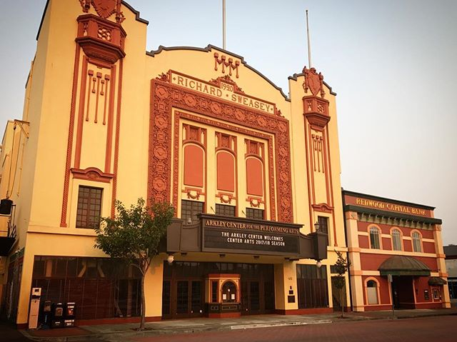 You know me, I have to find architecture wherever I go, like this beautiful theatre in Eureka, CA