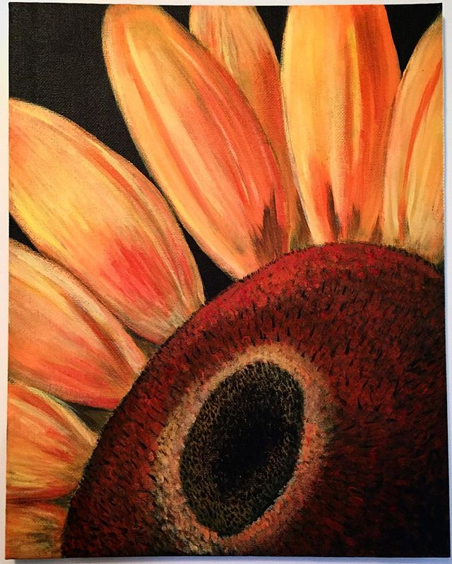 #sunflower #acrylicpaint #art #painting