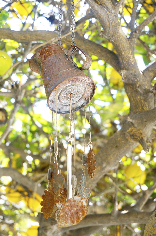Handmade rustic windchime