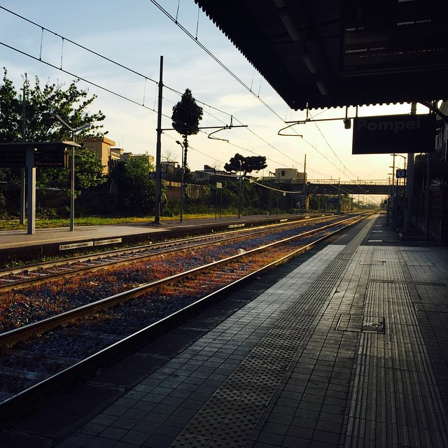 Who would have thought waiting for a train could be so beautiful