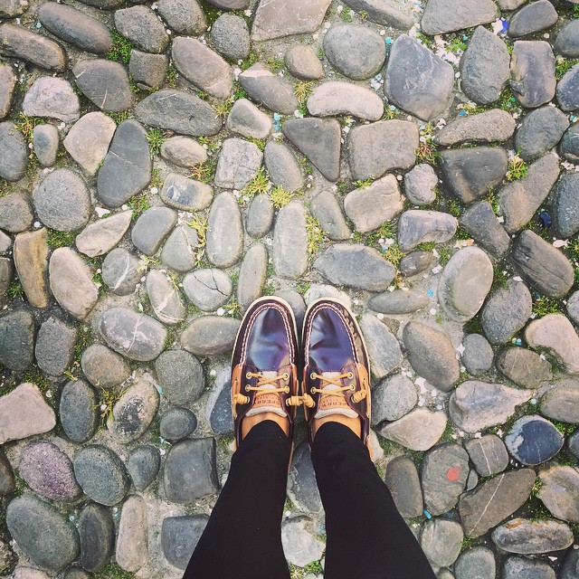 Today we're site seeing in Modena. Cobblestones!! I love cobblestones