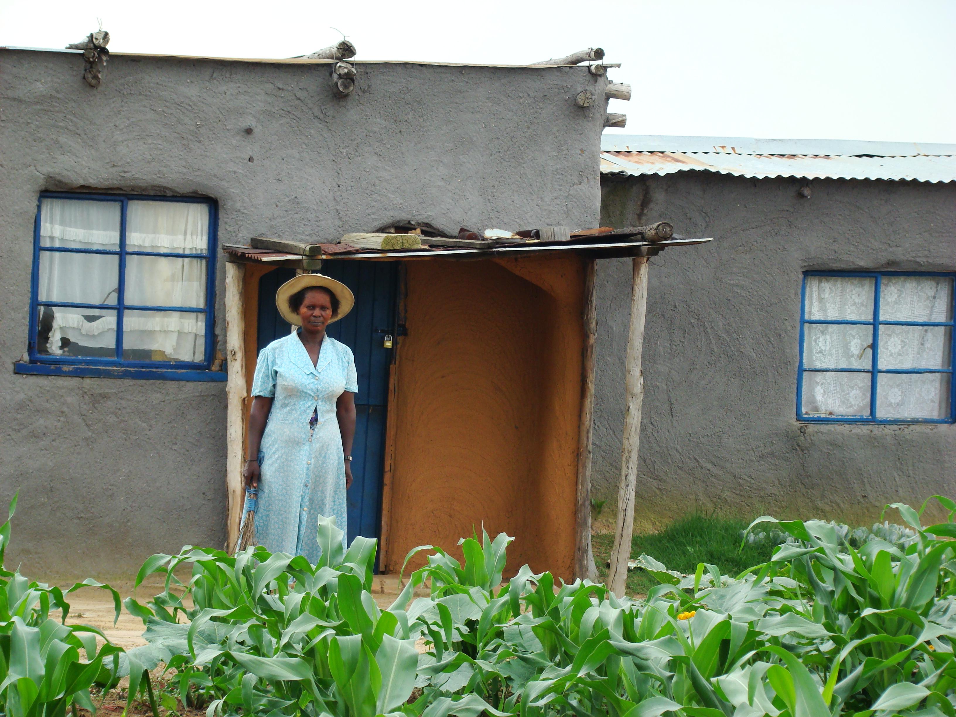 A rural home and garden