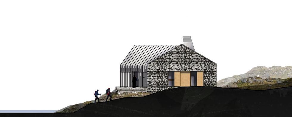 Refuge de Vénasque, facade SUD