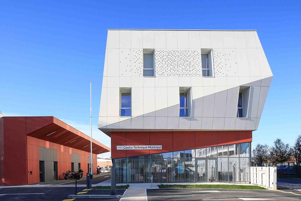 Triptyque architecture Centre Technique Municipal Blagnac