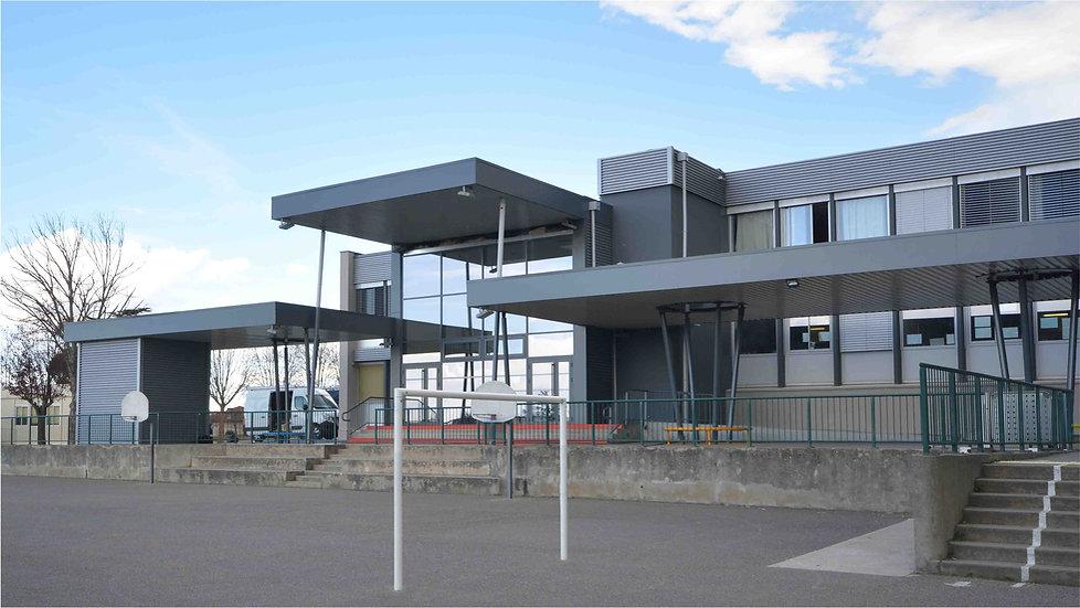 Triptyque architecture Réhabilitation école Jules Ferry Villefranche de Lauragais