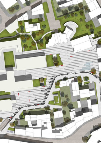 Plan masse place des Arts, Blagnac