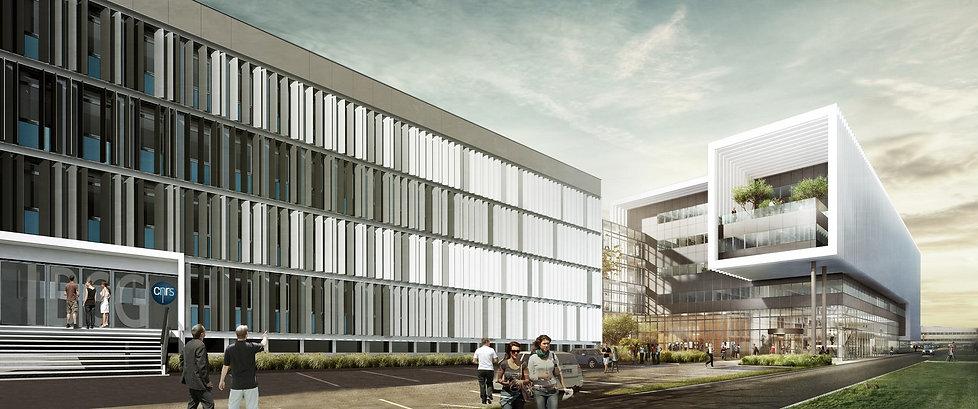 Triptyque architecture laboratoire IBCG CNRS