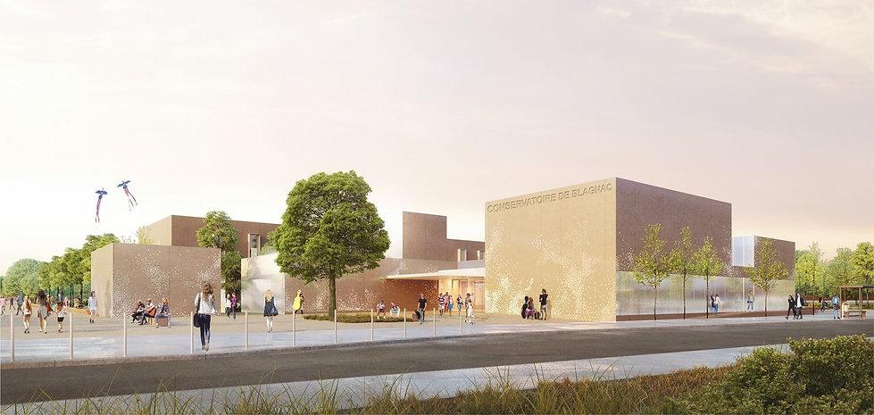 Triptyque architecture Joyes Conservatoire Blagnac