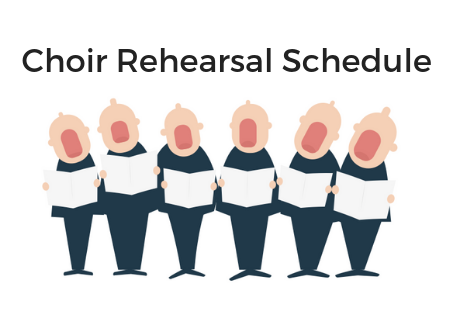 Upcoming Rehearsal Schedules