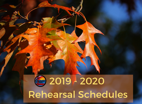 NEW FALL REHEARSAL SCHEDULES!