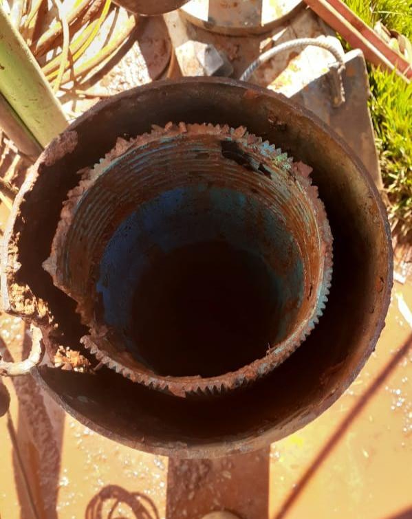Degradação em poço artesiano sem limpeza e manutenção
